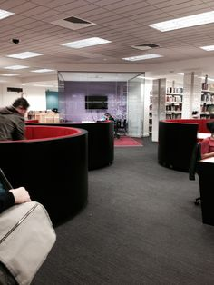 Study pods at University of Westminster Library #Library #Spaces