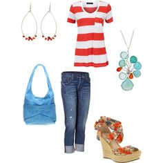 MY Totally Favorite color combo cherry red and turquoise....so cute and fun!