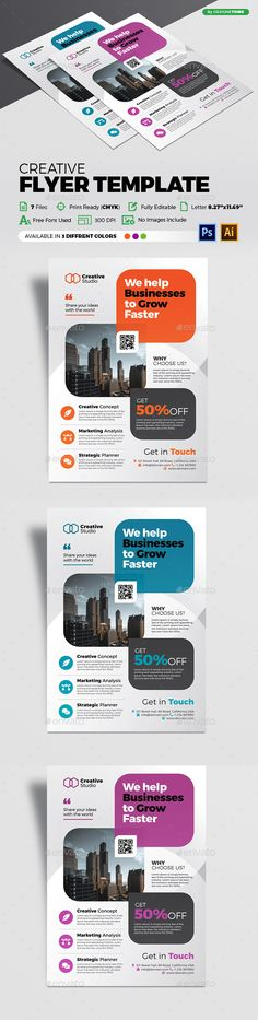 Buy Flyer Template by arsalanhanif on GraphicRiver. CHECK OUT OUR BEST SELLERS For any kind of customization please feel free to contact me. Flyer – Multipurpose An eleg. Business Poster, Ai Illustrator, Business Flyer Templates, Corporate Flyer, Best Sellers, Ads, Free