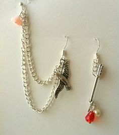 Hunger Games arrow and mockingjay double piercing by AprilLilies, $12.50 - I Want this! :0