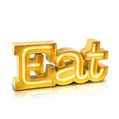 Battery Operated LED Neon Eat Sign