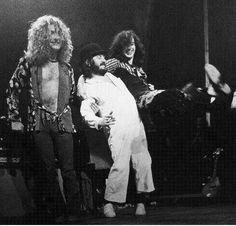 Robert Plant/John Bonham/Jimmy Page Led Zeppelin, Jimmy Page, Great Bands, Cool Bands, Hard Rock, I Love Music, Classic Rock Bands, John Paul Jones, John Bonham