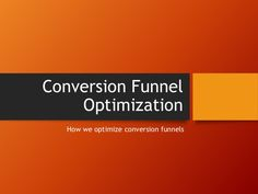 Roland Frasier shared a conversion funnel optimization on his slideshare account. Click this image above to know more about this topic. #RolandFrasierSlideshare