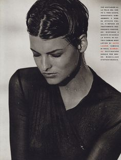 Vogue (Italy) December 1989   Linda Evangelista by Peter Lindbergh
