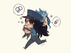 Gale chibi policeman x thief Gale Fairy Tail, Anime Fairy Tail, Fairy Tail Art, Fairy Tail Guild, Fairy Tail Ships, Fairy Tales, Nalu, Fairytail, Gajeel Et Levy