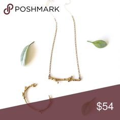 """M a d e w e l l • Tree-Twig Necklace & Cuff Add a little whimsy to your next night out, with these branch inspired, tree-twig necklace and cuff. Pretty in every way and sure to be a hit with all of your admirers!   -necklace 18"""" length plus 3"""" extender  -in great condition, light all over wear on necklace, cuff was hardly worn and looks new Madewell Jewelry Necklaces"""