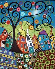 "Love her work-Karla Gerard Very ""Klimt"" inspired Alphonse Mucha, Karla Gerard, Frida Art, Diy Artwork, Art Lesson Plans, Klimt, Pablo Picasso, Whimsical Art, Art Plastique"