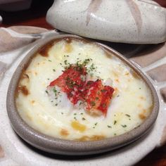 Crab gratin served in a ceramic crab plate #sapporo #kaiseki by kimscantos