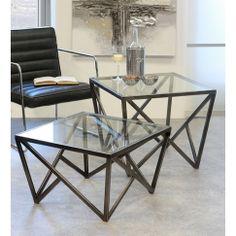Konferenční stolek skleněný Loft nízký, 60 cm