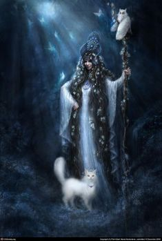 la dea e gli animali della Luna