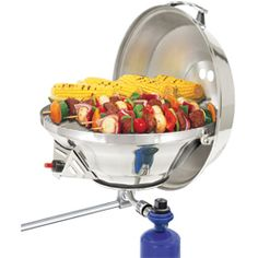 Magma Marine Kettle 2 Combination Stove and Gas Grill, Party Size by Magma Products. Magma Marine Kettle 2 Combination Stove and Gas Grill, Party Size. Boat Bbq, Boat Grill, Gas Barbecue Grill, Propane Gas Grill, Best Gas Grills, Stainless Steel Kettle, Grill Party, Bbq Party, Camping