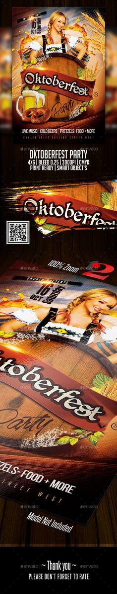 #Oktoberfest #Party #Flyer Template - Clubs & Parties Events