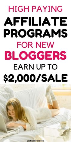 The best high-paying affiliate programs for new bloggers: affiliate programs that pay up to $2,000 per affiliate sale. Affiliate marketing is great online business to monetize your blog. Use these affiliate marketing programs to make money blogging constantly. Build passive income online fast.#thebestaffiliateprogramsfornewbloggers#affiliatemarketing#makemoneyonline#makemoneyblogging Make Money Blogging, Make Money From Home, Way To Make Money, Make Money Online, Successful Online Businesses, Online Income, Blogging For Beginners, Extra Money, Affiliate Marketing