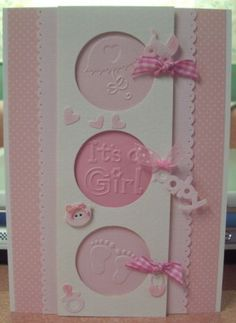 Baby Embossing Folder Set It's A Girl Cuttlebug Embossing Folders | eBay