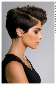 A beautiful and classy short pixie inspired hairstyle.