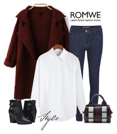 """""""Romwe White Blouse"""" by tawnee-tnt ❤ liked on Polyvore featuring Levi's, Marni, The Kooples, women's clothing, women's fashion, women, female, woman, misses and juniors"""