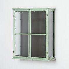Iron & Glass Wall Cabinet.  Terrain.