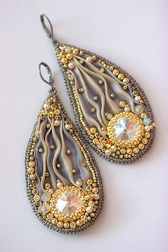 Golden Tarnished Shibori Earrings by ZuziHake oorringen zelf juwelen te maken
