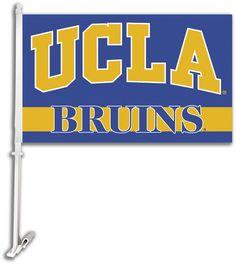 UCLA Bruins Team Logo Car Flag