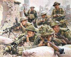 Soldados británicos 1944, Norte de Europa.