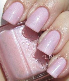 Bridal mani using Essie- Pink-A-Boo