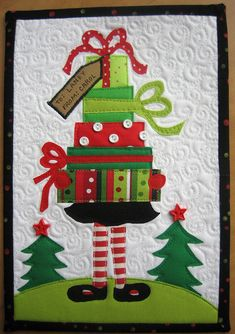 Bearing gifts mug rug- or how about making it into a big quilt - now you're talking cute!
