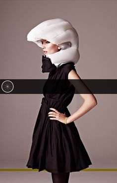 "Hövding bicycle ""invisible helmet"": accelerometer-activated airbag worn around neck like a collar."