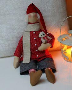 Vicky und Ricky: Christmas Tilda Engel with Teddy - 2 Doll Clothes Patterns, Doll Patterns, Good Night Angel, Cartoon Caracters, Fabric Ornaments, Waldorf Dolls, Soft Dolls, Felt Art, Softies