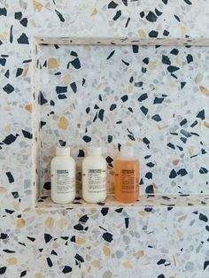 This Terrazzo Tile Bathroom by The Brown Studio Makes a Case for Open Floor Plan Interior Design Trends, Bathroom Interior Design, Home Interior, Diy Bathroom, Tile Bathrooms, Concrete Bathroom, Bathroom Showers, Luxury Bathrooms, Master Bathrooms