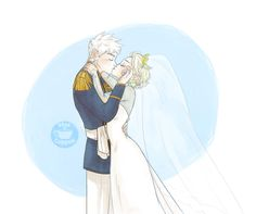 Sweet Wedded Bliss  I love Jack in formal attire, and Elsa is forever the queen of my heart. I think this will be a good way to get me back in the mood for all of this wedding stuff. Oh p.s all of these will be available on my society6 page if you're interested