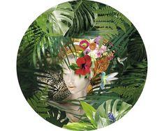 Tablou sticla rotund Jungle Girl Face Ø 20 cm pret mic la HORNBACH Girl Face, Deco, Decor, Deko, Decorating, Decoration
