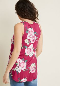 021c0e3fca9c3 Infinite Options Tank Top in Pink Floral - Every fashionista knows the  necessity of pieces that. ModCloth
