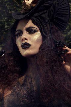 Halloween Looks, Halloween Makeup, Love Makeup, Makeup Looks, Awesome Makeup, Tim Burton Style, Halloween Photography, Make Up Art, Dark Lips