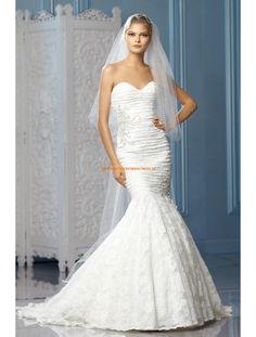 Meerjungfrau Lange Romantische Brautkleider aus Softnetz