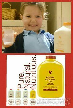 Drinking gel - Kids sometimes prefer sweeter-tasting Aloe Bits 'n Peaches!