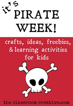 summer fun themed week-crafts, activities, ideas, and free… Preschool Pirate Theme, Pirate Activities, Kids Learning Activities, Summer Activities, Craft Activities, Camping Theme, Camping Crafts, Summer School, Summer Fun