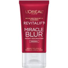 L'Oreal Paris Skincare Revitalift Miracle Blur Instant Skin Smoother, Facial Cream with SPF fl. Organic Skin Care, Natural Skin Care, Night Beauty Routine, Clear Skin Face, Cream For Oily Skin, Facial Cream, Diy Skin Care, Loreal Paris, Smooth Skin