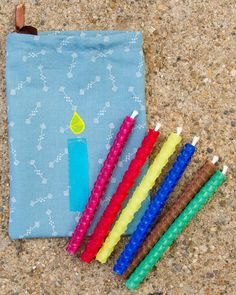 Rolled Beeswax Birthday Candles, Six Assorted Colors Rainbow Fairies, Encaustic Art, Beeswax Candles, Handmade Candles, Kids Playing, Hand Stamped, Birthday Candles, Christmas Holidays, Printing On Fabric