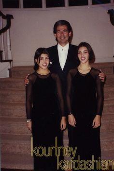 Robert with Kourtney and Kim.