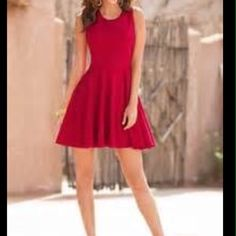 ❤️Pretty Ponte Fit and Flare Dress❤️ Easy pull on dress for perfect hourglass look. Rayon nylon spandex. Machine wash. Mid thigh. Excellent quality material. Red. size 10&18 Boston Proper Dresses