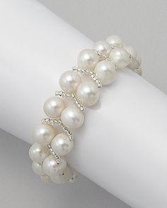 Product Type: Bracelet Metal: Zinc Beaded With: Fresh Water Pearl, Seed BeadWidth: 16 mm.