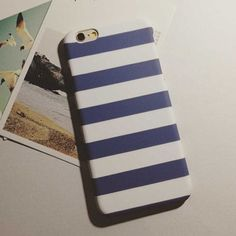 Fashion Stripe Cover For iphone 5S Case For iphone 5 5S 6 6S 6 Plus Hard White Black Blue Phone Cases Protect Coque Capa Fundas