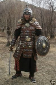 1200-1300 Mongolian Warrior Armor whole set.