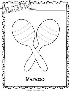 21 musical instrument coloring pages classroom percussion