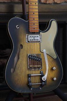 Guitar Diy, Guitar Room, Cool Guitar, Acoustic Guitar, Banjo, Telecaster Thinline, Guitar Photos, Slide Guitar, Guitar Building