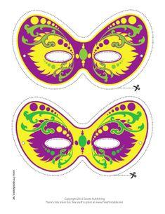 Free Free Mardi Gras Carnivale Masquerade Printable Masks