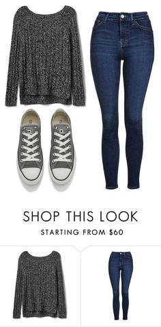 """Untitled #499"" by cuteskyiscute ❤ liked on Polyvore featuring Gap, Topshop and Converse"