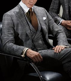 Paul Stuart - Grey Plaid Wool/Cashmere/Silk Phillip Suit