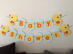 Baby Shower Duck Banner/ animal banner/ baby banner/ handmade | Etsy Rubber Ducky Birthday, Rubber Ducky Baby Shower, Baby Shower Duck, Welcome Banner, Baby Banners, Baby Shawer, Party Themes, Party Ideas, Diy