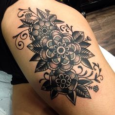 What I should've done on my hip. Man that's pretty!